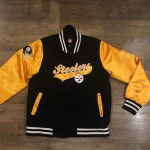 Pittsburg Steelers NFL Varsity Bomber Jacket XL